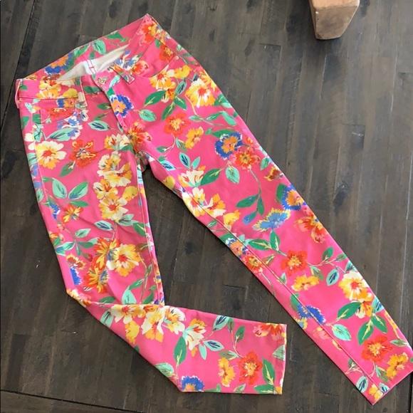 kate spade Pants - Kate Spade ♠️ Brooke Street Pink Floral Pants